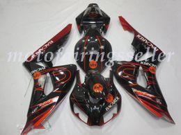 schemi di equilibratura Sconti OEM qualità Nuovo ABS Carene complete Kit misura per HONDA CBR1000RR (2006-2007) CBR1000RR 06 07 Carrozzeria set pattern Nero Rosso