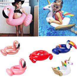 decorazioni di granchio Sconti Salvagente gonfiabile Flamingo Unicorno Toucan Granchio Modello Cartoon Anello di nuoto Pool Decorazioni per feste Giocattoli Piscina estiva Galleggiante Tubo Per Bambini