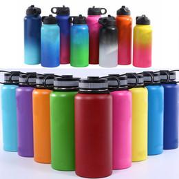 DHL frei 32 Unzen 40 Unzen Weithalsflasche isoliert 304 Edelstahl Trinkflasche Outdoor Sport Reisebecher mit Deckel