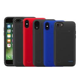 4000mAh Custodia in silicone antiurto per iPhone X XS MAX XR 7 8 PLUS Custodia per batteria Ricarica posteriore Custodie per power bank da casi di ricarica della batteria iphone fornitori