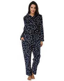 combinaison femmes stars Promotion Casual Lâche Rompers Jumpsuit Femmes 2019 Automne Hiver Étoile Imprimer À Manches Longues À Capuche Zipper Bodysuits Vêtements De Nuit Long Pyjama 3XL