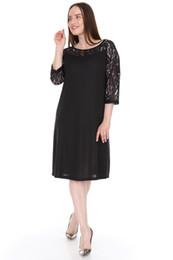 Large Size delle donne pianoluce Vestito di pizzo nero Robaina Lire 1564 da
