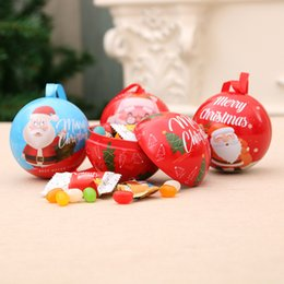 candy ball decorations Promo Codes - Christmas Decorations Christmas Balls Santa Claus Snowman Deer Bear Candy Cans Christmas Gifts Tree Pendant Gifts Children Gifts