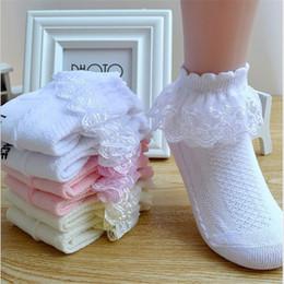 Gorgous Bambina Frilly Calzini NASTRO BIANCO Bianco pizzo Abbigliamento e accessori Bambina: abbigliamento