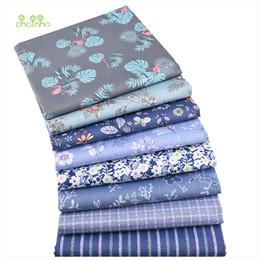 Chainho, 8pcs / lot, nueva serie floral, tela de algodón de sarga estampada, tela de retazos, bricolaje cosiendo material para bebés y niños desde fabricantes