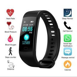 relógio aplicativo Desconto Esporte da aptidão Rastreador Heart Rate inteligente Pulseira Eletrônica colorida LCD Assista Atividade APP Pressão Arterial IP67 pulseiras impermeáveis