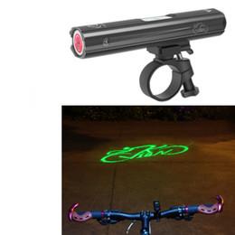 Faróis mtb on-line-Novo Ciclismo Bicicleta Farol A Laser USB de Carregamento Aviso de Aviso de Luz Dianteira Da Noite MTB Estrada Ciclismo Acessórios Da Lâmpada Da Frente