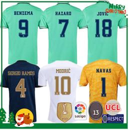 Kits para mulheres on-line-19 20 Real Madrid Futebol Jersey Benzema Jovic Militão Modric Ramos Bale PERIGO 2019 adulto 2,020 homem + kids mulher kit esportes Futebol camisa