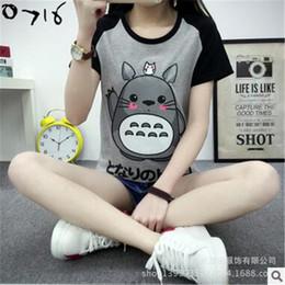 camiseta de animación Rebajas Animación de moda Totoro Camisetas Mujeres O-cuello Camisetas Para Mujeres Camiseta Tops Chica Casual Camiseta Pareja Camiseta