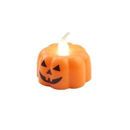Canada Halloween photophores LED Party Citrouilles crâne Bougie électronique Halloween Décoration Lampe clignotant Lumière Fantôme Festival de Décor Offre