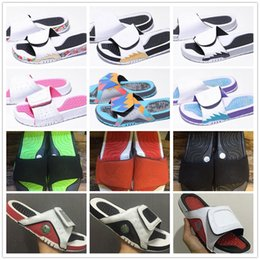 plastic slides Promo Codes - 13 13s Hydro Slides Slippers Hydro IV 4 4s Slides Black Sandals Jumpman 11 11s Blue Black White Red Basketball Shoes Casual Sports Sneakers