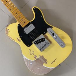 2020 violão coreano O Envio gratuito de fábrica Coreano profissional Relic Handmade 1962 FD TL guitarra elétrica sutiã de bronze ASH corpo hardware envelhecido revestimento nitrolac ... violão coreano barato