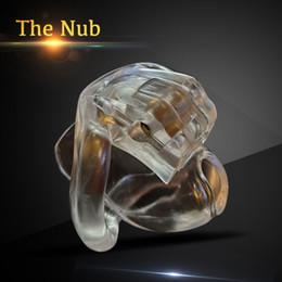 anillo de resina transparente Rebajas El dispositivo de Nub HT V3 Castidad Masculina con 4 anillos de las nuevas llegadas