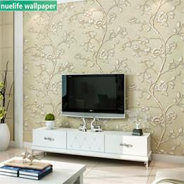 Deutschland Wohnzimmer Fernsehhintergrund-Tapete 3d prägte Geschäftshochzeitsraum-Schlafzimmer des Musters amerikanische nichtgewebte Tapete Versorgung