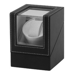 Caixa de jóias automática on-line-Tela de vibração do motor avançado Watch Winder Stand Display Automatic Mechanical Watch Winding Box Jewelry Box