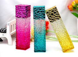 Meilleur prix d'usine Cube D'eau Conception Bouteilles De Parfum Vides 50ml Atomiseur Verre Verre Rechargeable Bouteille Spray Scent Case SN3229 ? partir de fabricateur