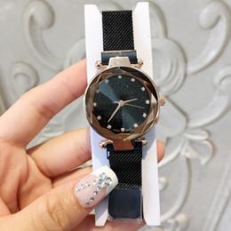 женские наручные часы Скидка 2019 Магнит пряжка фиолетовый цвет Женщины смотреть мода роскошные стали известный дизайн Relojes De Marca Mujer Леди платье часы с звездным небом циферблат