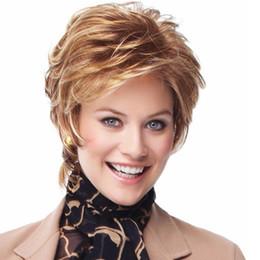 parrucche marroni chiari per le ragazze Sconti Parrucca di moda da donna di 10 pollici Parrucca sintetica di colore marrone chiaro Parrucca sintetica afro-americana per donna