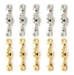 Колье, цепочка, браслет, позолоченный, магнитная пряжка, 6 мм, 8 мм, круглый шаровой зажим от