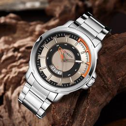 quartzo quartzo Desconto Curren casual mens relógios analógico relógio de pulso de quartzo pulseira de couro de alta qualidade único homem relógio à prova d 'água relojes hombre