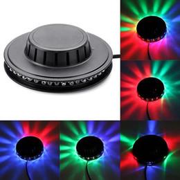 Rotierende tanzlichter online-8 watt 48 leds rgb auto farbwechsel rotierenden sonnenblumen ufo led bühnenlicht bar disco tanzparty dj club pub musik lichter