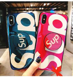 iphone rojo negro funda silicona Rebajas Funda de iPhone de alta calidad Funda de teléfono Sup Soporte de soporte de airbag Soporte de montaje para iPhone X XS MAX 6 6S 7 8