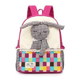 2019 милые сумки для девочек средней школы New cute Children school bags Cartoon  kindergarten baby backpack high quality canvas girls Student shoulder bags дешево милые сумки для девочек средней школы