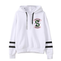 tipo de jersey Rebajas 26 Kind Riverdale South Side Serpents Hoodie Sudaderas SouthSide Funny SNAKE Imprimir Mujeres / Hombres Sudadera con capucha Chándal Mujer