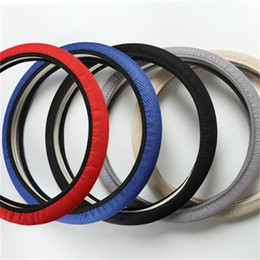 car steering wholesale Promo Codes - Steering wheel sleeve fashion car accessories cover Summer Ice silk Elastic force Handle grip covers factory Direct selling 3tx p1