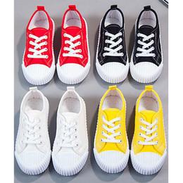 Zapatos de bebé dulces online-2020 zapatos de lona de los zapatos de bebé chicos caramelo colores niños GRILS baja capacidad rosa rojo negro amarillo 21-33 envío libre