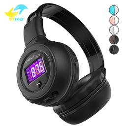 Écran de casque bluetooth en Ligne-Écouteurs Zealot B570 Bluetooth Casque Pliable Casque Stéréo Écouteur sans fil avec LCD Affichage à l'écran FM Radio Slot pour Iphone