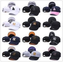 Mlb de beisebol on-line-MLB new york yankees snapback chapéu de basebol ny la homens mulheres los angeles rodeio esporte futebol designer osso gorras sol casquette chapéu