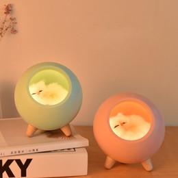 Schlafzimmer LED Tischlampe Wiederaufladbare Touch-Nachtlicht RGB-Birne DE kuy