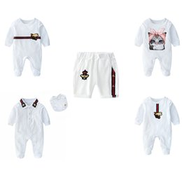 fußverpackungen Rabatt Baby einfarbig Strampler Junge Mädchen gestreift Wrap Fuß Baumwolle Overall Höhe Qualität Kinder Designer Kleidung Säugling Baby Cartoon Tasche Shorts 06