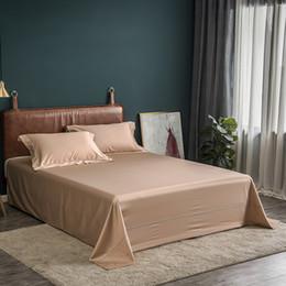 2019 literie à carreaux bleus New 3Pcs luxe en coton égyptien draps 245x275m blanc, rose, gris, bleu Lit Bedsheet Taie