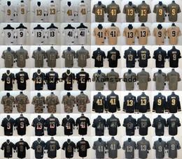 Camisetas de fútbol auténticas online-2020 para hombre de Nueva OrleansSantos 9 camiseta de fútbol Alvin Drew Brees 41 Kamara 13 Michael Thomas precipitación del color Limited auténtico cosido