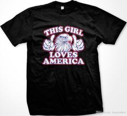 Canada 2018 Nouveautés Soldes Cette fille aime l'Amérique Bald Eagle Thumbs Fier Patriote Américain T-shirt Anime Vêtements Casual Offre