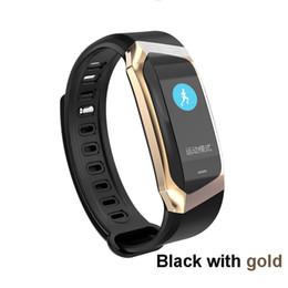 tiempo de espera del teléfono Rebajas Nuevo E18 Pulsera inteligente Presión arterial Monitor de ritmo cardíaco Ejercicio de actividad Rastreador reloj inteligente Banda deportiva impermeable