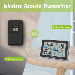 Sans fil extérieur température intérieure humidité mètre jauge station météo, hygromètre numérique thermomètre barmètre horloge murale Home Decor cadeau ? partir de fabricateur