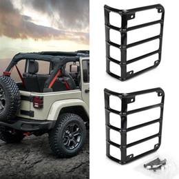 Argentina Coche modificado cubierta de protección de luz trasera del coche luz de freno marco de protección de aleación de aluminio para Jeep Wrangler 07-18 (par) Suministro