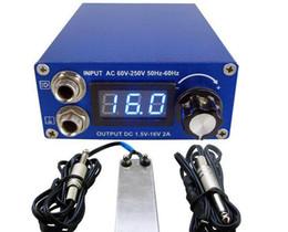 máquinas bobinadoras baratas Rebajas Kit de juego de fuente de alimentación para tatuaje Pantalla LCD Doble fuente de alimentación de tatuaje digital Ourput Pedal de interruptor Conmutador de clip Cable de tatuaje Kit