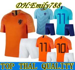 2018 2019 news Adult kit Nederland soccer jersey 1819 home orange  netherlands HOLLAND ROBBEN SNEIJDER V.Persie Dutch away football shirts 20759f107