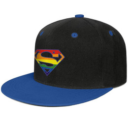 Супермен Rainbow Pride Logo Синий мужской и женский хип-хоп кепка с плоскими полями крутой дизайнер индивидуальный дизайн вашей собственной бейсбольной команды моды лучший чел от