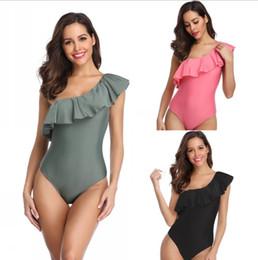 сексуальный зеленый бикини Скидка 2019 бикини лето женщины цельный купальник розовый зеленый черный сексуальная леди бикини пляжный костюм купальник