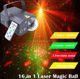 magische wasserkugeln Rabatt 16 muster in 1 laserlicht projektor magic ball fernbedienung 10 watt dj disco wasser welle licht bühnenlicht effekt lampe llfa