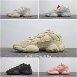 Tasarımcı Erkekler ve Kadınlar koşu ayakkabıları 500 BLUSH TUZ SÜPER MOON SARI UTILITY SIYAH Pembe sneaker spor ayakkabı nereden