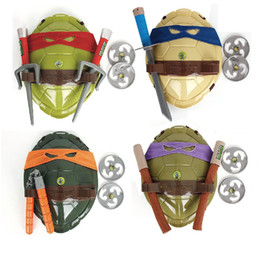 2019 черепаховые костюмы Игрушечный костюм черепаха пластиковый нож патч потому что одеваются мультфильм детские игрушки продаются хорошо с разным цветом 18le J1