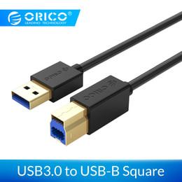 2019 usb-schnittstellen-datenkabel Computer Bürocomputer Kabel Stecker ORICO Kabel USB3.0 zu USB-B-Daten-Kabel 5Gbps Für HDD SSD Drucker Fax-Platz Interface Device rabatt usb-schnittstellen-datenkabel