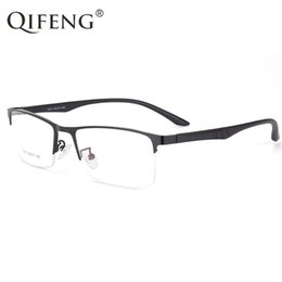 b958c58b4dc7 QIFENG Spectacle Frame Eyeglasses Men Korean Computer Optical Myopia Eye  Glasses Frame For Male Transparent Clear Lens QF301