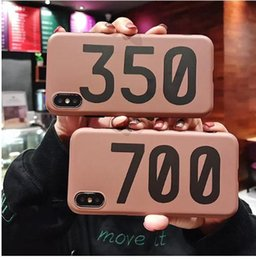 v2 case Promo Codes - Luxury sneakers BOOST 350 700 V2 Soft silicone cover case for iphone 6 S 7 7plus 8 8plus X 10 XR XS Max phone coque